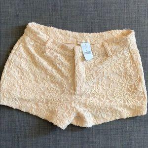 beautiful short in lace fabric